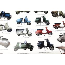 610158M - Vespa poster with various models, size 70x100 (610158M)
