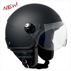 Helm mod. FLORIDA, gummierte schwarze Farbe, Größe S (55 cm)