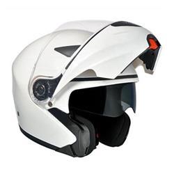 Modularer Helm SINGAPUR, Silbermetall, Größe L (59 cm)