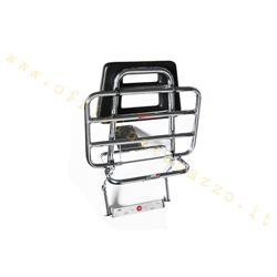 Rear luggage rack Faco chromed with back for Vespa PX 0203 - 125- PX - PE - PX Disco