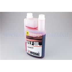 IPO800350 - Aceite de mezcla Ipone Self Oil con base sintética y cuchara integrada de 1 l para Vespa