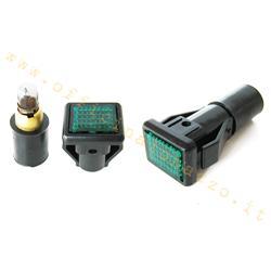 Cubierta de manillar de luz de advertencia para Vespa PX - PE 1ra serie (verde)