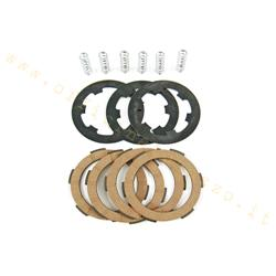 5583 - Clutch 4 cork disks with intermediate disks and 6 reinforced springs for Vespa PK HP - FL2