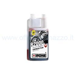 IPO800105 - Mezcla de aceite sintético Ipone R2000RS con una cuchara dosificadora integrada con aroma de fresa paquete de 1 lt