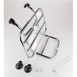 Porte-bagages avant chromé pour Vespa PX - PE - LML - GT - GTR - GL - TS - GS - Rally - Sprint - Sprint Veloce - Super - VNB - VBB - VBA