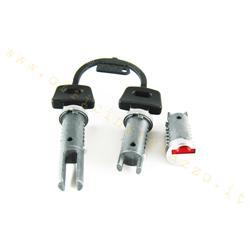 6215 - Antivol de direction - top case - selle (3 cylindres) pour Vespa PK - FL - HP