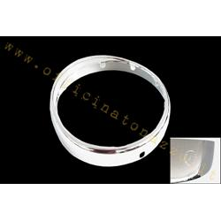GF815 - Chrome frame front light with Siem brand with visor for Vespa GS160 - VBA - VBB - VNB 3/4/5/6 (original ref.code Piaggio 084489)