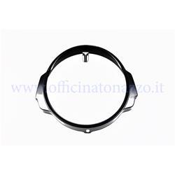 Black front light frame for Vespa PX - PE - Arcobaleno