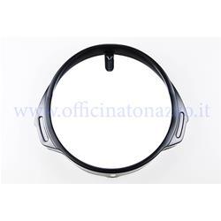7394-N - Black aluminum front light frame for Vespa PX-PE