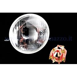 1161235 - Front light in glass complete with lamp holder for Vespa PX 125/150/200 - Arcobaleno
