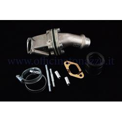 215.0118 - Polini lamellar intake manifold 24mm 2 holes connection elastic coupling for Vespa 50 - ET3 - Primavera