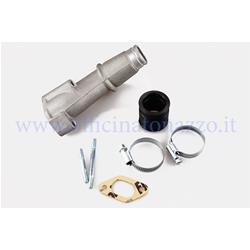 215.0006 - Polini 24mm intake manifold with 2 holes elastic coupling for Vespa 50 - ET3 - Primavera