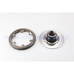 25270832 - Primary Pinasco Z 24-65 (Ratio 2.70) helical teeth with pinion Ø107 (7 springs) complete with flexible coupling for Vespa 200