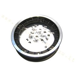 5520 - Black alloy wheel rim 3,00 / 3.50-10