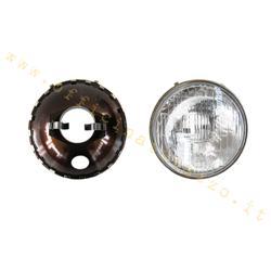 COD.104 - Feu avant en verre marqué SIEM pour Vespa 90 SS de 1966, Vespa 125 Primavera - ET3, 125/150 Super