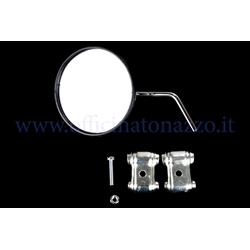 E14 - Round right or left rear view mirror chromed for Vespa shield (APPROVED)