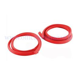 Rubber profile for both bonnets, red color, suitable for Vespa 125 VNA-TS / 150 VBA -T4 -160 GS - 180 SS - PX80-200 - PE - Luxury - `98 - MY - T