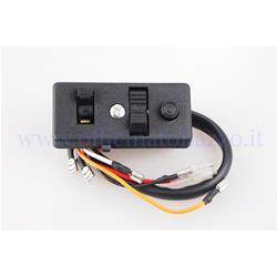 160752 - Interruptor de luz para Vespa PX P125 / 150X de 1977 a 1986 - P150S de 1978 sin flechas, con botón de parada del motor (Ref. Original piaggio 160752)