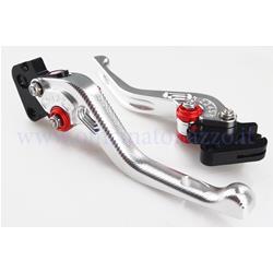Leviers en aluminium PM PRO usinés à partir de solides réglables pour Vespa PX - PE - 28006600 - Primavera - ET50 - TS - 3 GS - 160 SS - Rally - Sprint - GT - GTR