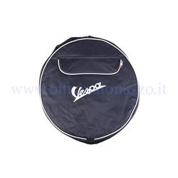 "00114 - Black spare wheel cover with Vespa writing and document pocket for 10 ""rim"