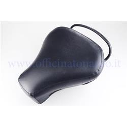 743 - Einzelfahrersitz schwarz ohne Nieten und Nähte für Vespa VNB 1> 6 - VBB 1> 2 - VBA - VNA - GT - GTR - GL - Sprint - Sprint V. - TS - Rallye - GS 160 - SS 180 - PX alle Versionen