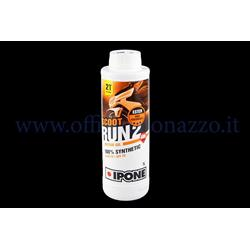 IP800118 - 2% high performance synthetic Ipone Scoot Run100 mixture oil specific for separate mixer pack of 1 lt