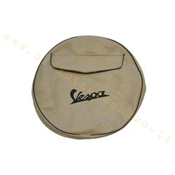 "A9362 - Ivory spare wheel cover with Vespa writing and document pocket for 8 ""rim"