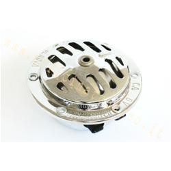 K14-crom - 6v chromed horn for Vespa 50 N - R - 90 - 90 SS - new 125 -150 VBB2T - VNB3> 6 without battery