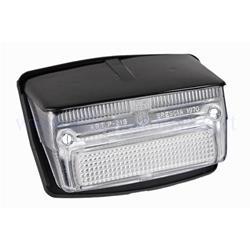Luz trasera blanca completa con junta con techo negro para Vespa 50 Special - Elestart (cristal blanco)