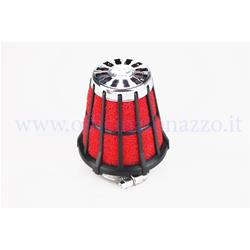 047729.50 - Malossi conical air filter inlet Ø 44mm with black filter and red sponge for PHBL 24/25 carburetor