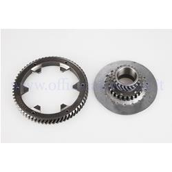 25270829 - Primary Pinasco Z 23-65 (Ratio 2.82) helical teeth with pinion Ø97 (6 springs) for Vespa 125/150