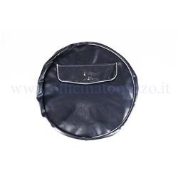 "010SPCVBLU10 - Dark blue spare wheel cover without writing with document pocket for 10 ""rim"