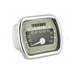 Odometer scale 50502400km / h beige / black background for Vespa 100 VN - VLA 125-2 (3x73mm)
