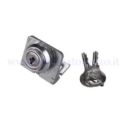 0475640CO - Steering lock with short plate and smooth key for Vespa 125 V30 / 33T - VM1T / 2T, VN1T / 2T -VL1T / 3T - VB1T