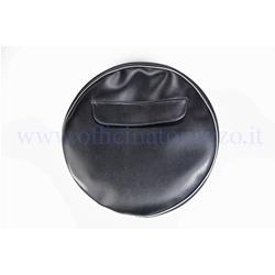 "P90230NERO - Black spare wheel cover without writing with document pocket for 10 ""rim"