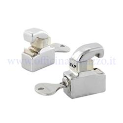 Satin anti-theft lock for Vespa GT - GTR - TS - Super - GL - Sprint - Sprint V. hoods - 16812600GS - 160 SS - Rally - PX (180 Pcs)
