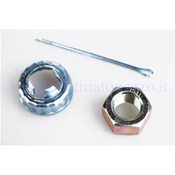 121850340 - Rear wheel nut kit complete with cup and cotter pin for Vespa PX Arcobaleno