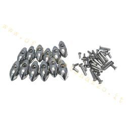 Ferrules and rivets kit for footboard strips for Vespa Sprint - Super - Rally - TS - GT - GTR - 160 GS - 180 SS