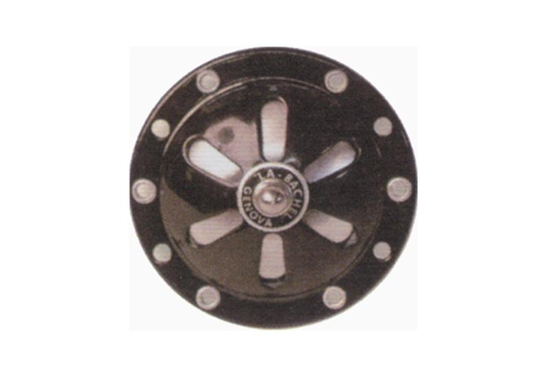 - 6 V Wechselstromhorn (ohne Batterie) schwarze Farbe einstellbar für Vespa 125 von V1T bis V15T von V30T bis V33 bis 1952