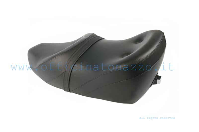 Zweisitzer Schaumstoffsitz mit Schloss Typ King & Queen schwarz für Vespa 125/150/200 - GT - GTR - Sprint Veloce - TS - PX SOFT Marke